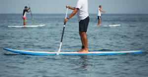 what muscles does paddle boarding work